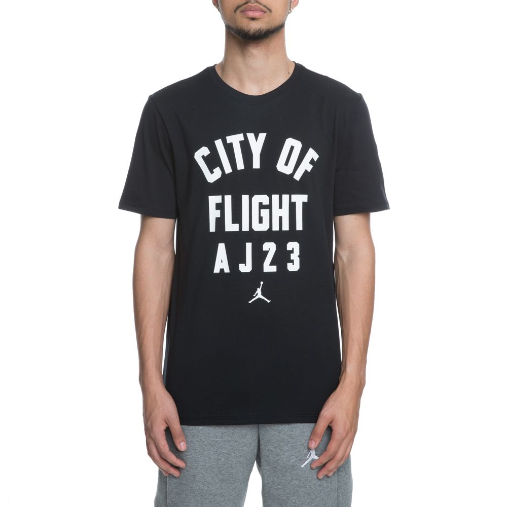f9a9dc02888 Jordan Tee City Of Flight Zip Code BLACK/WHITE