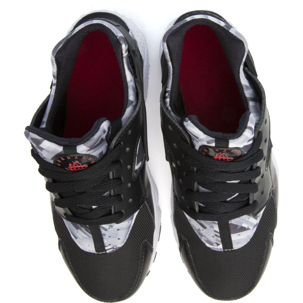 65e6194c70f65 HUARACHE RUN PRINT (GS) Black White Grey Red