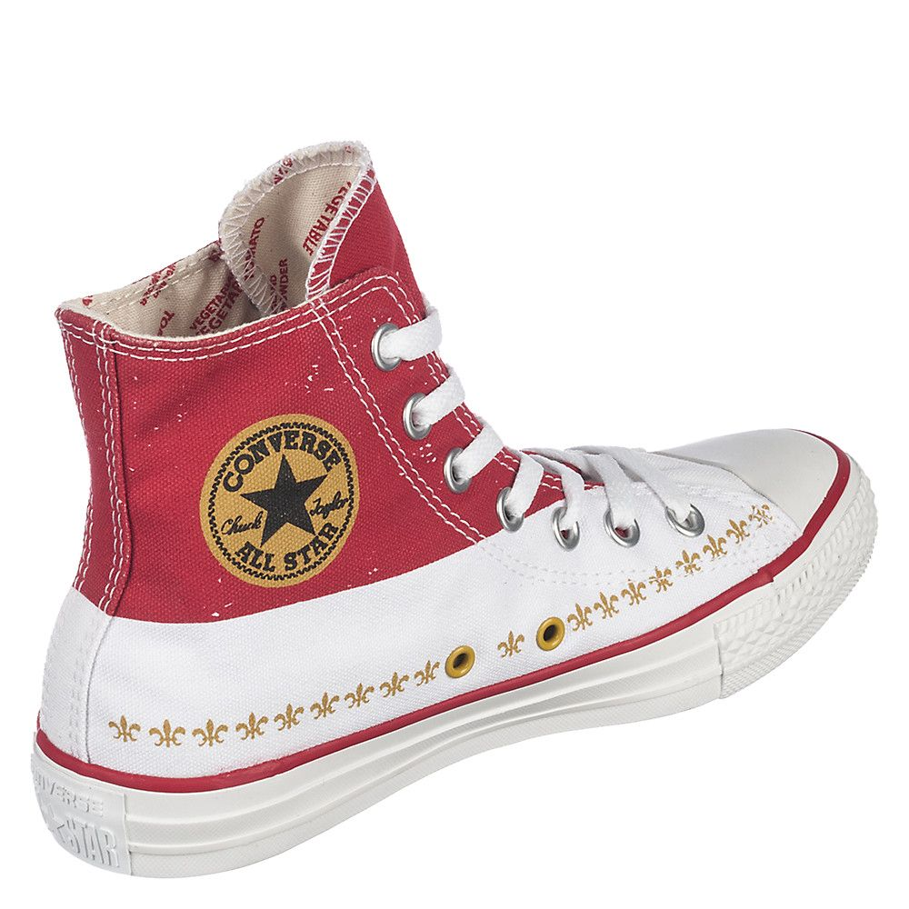 d3ac740547b1 Unisex Chuck Taylor All Star Andy Warhol CT Hi Casino Red White