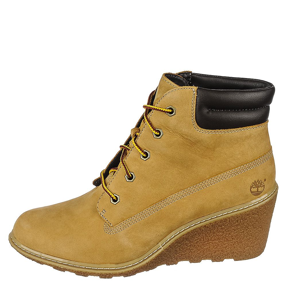 Timberland Amston 6IN Women s Tan Low Heel Wedge Boots  e6b172febb1d