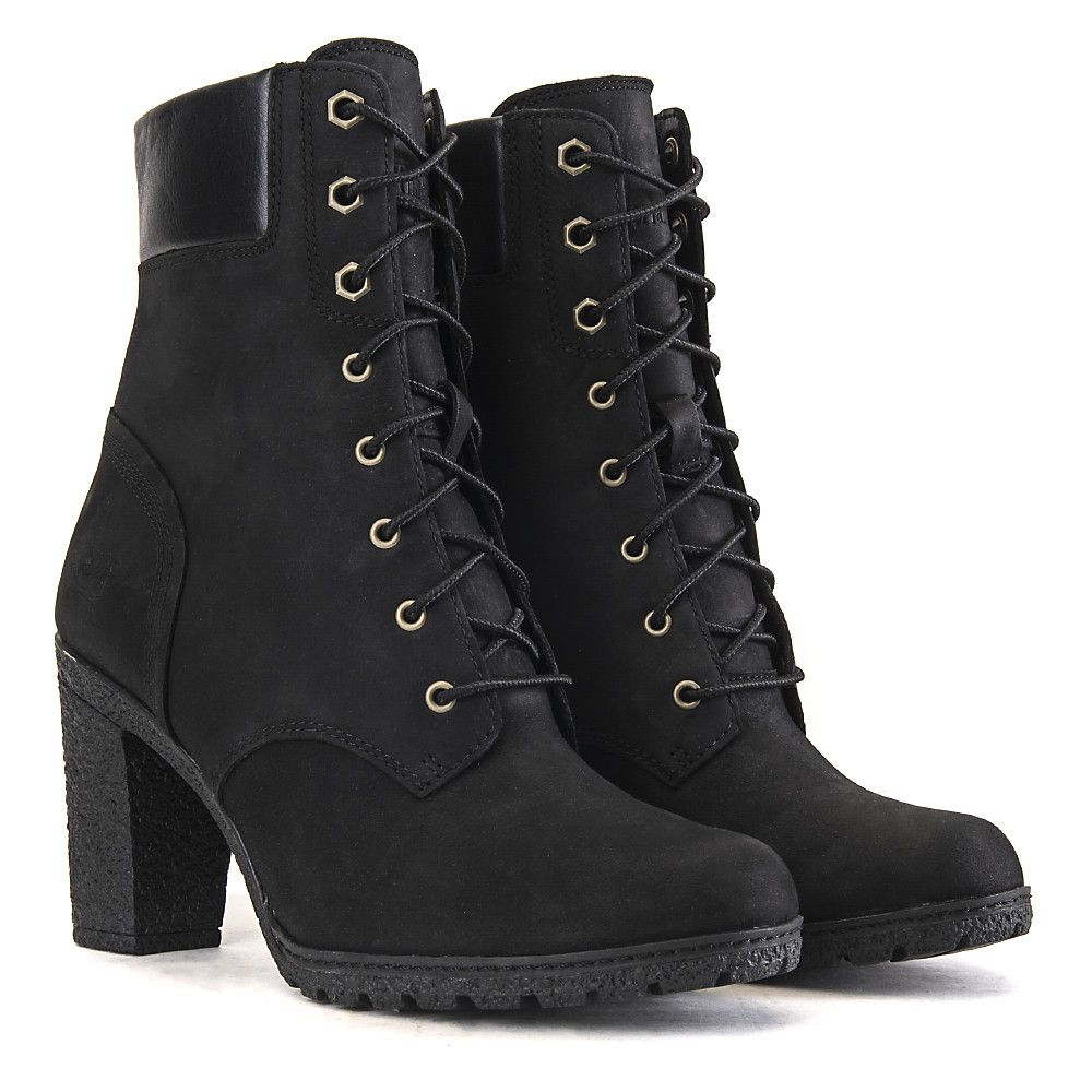 promo code 5d122 a8166 Timberland Glancy 6 IN Women s Black Low Heel Ankle Boots   Shiekh Shoes