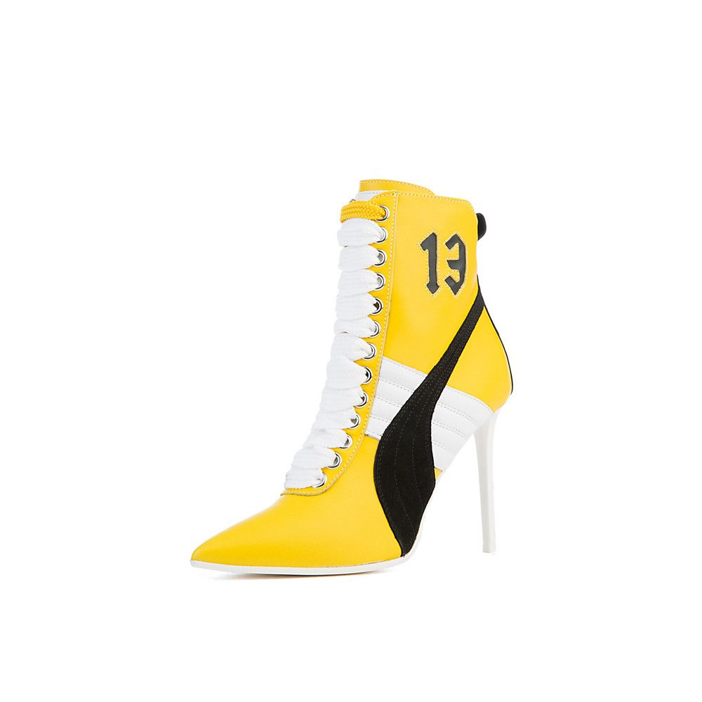 de8c8cd388c Women s Rihanna High Heel Leather Ankle Boot