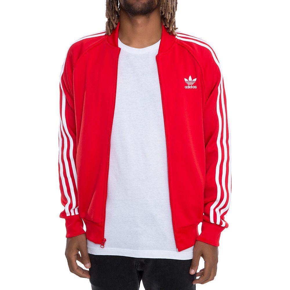 896602ca Adidas Men'S Superstar Track Jacket Red | Shiekh.com