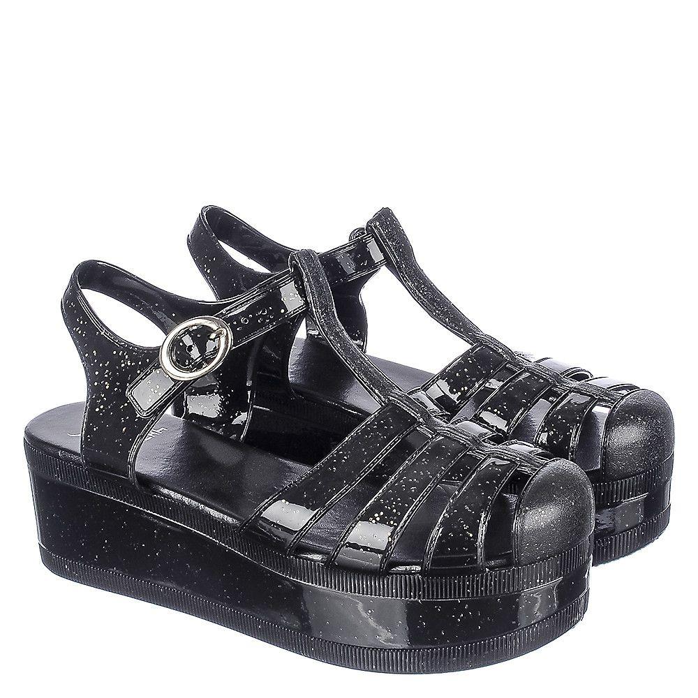 8ef44ef6bc Women's Disco-01 Platform Jelly Sandal Black