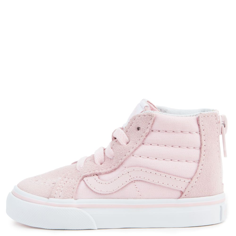 48fa0985df TODDLER VANS SK8-HI ZIP CHALK PINK TRUE WHITE