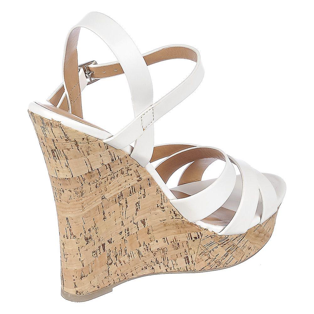 Womens Serum S Wedge High Heel Sandal White