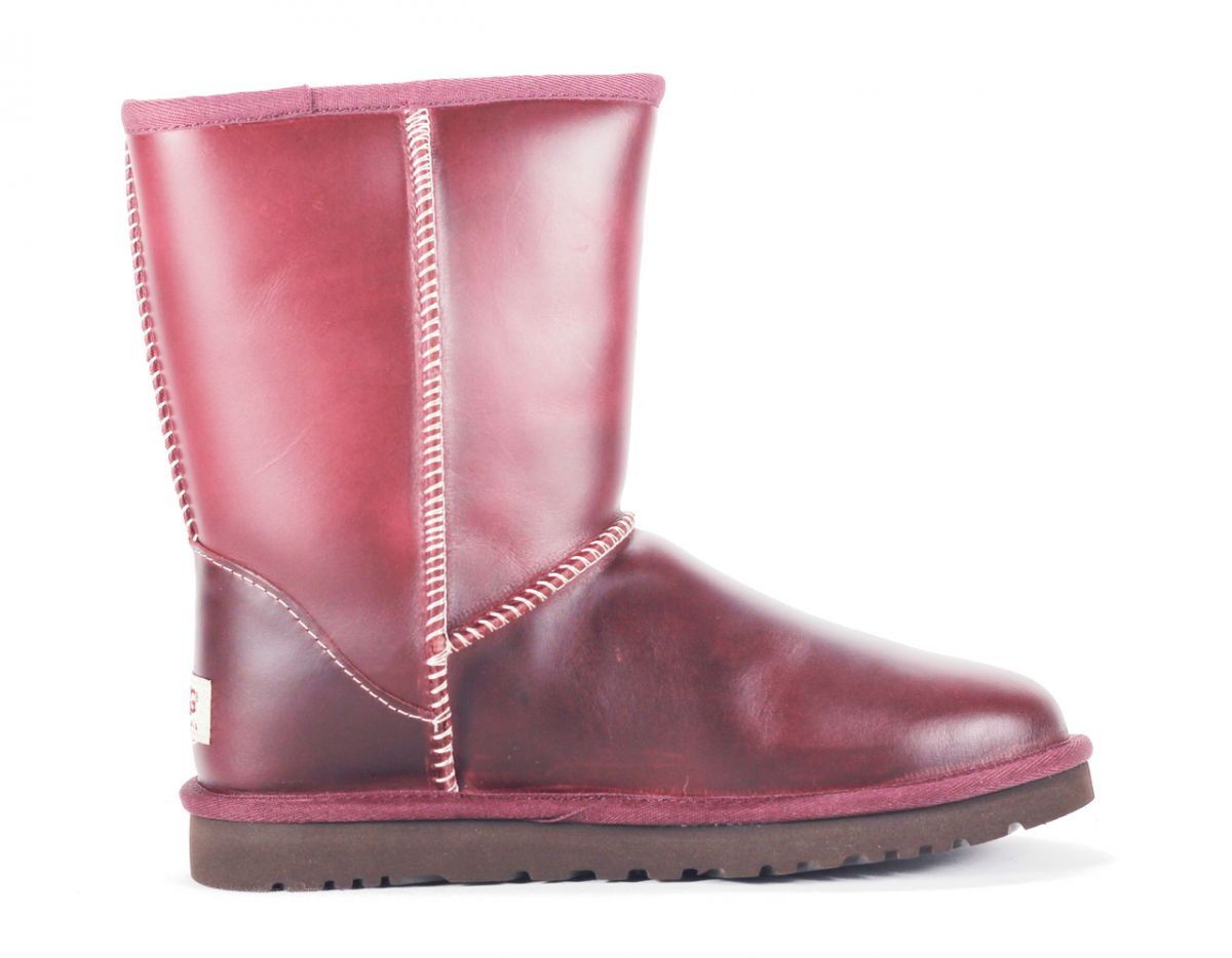 9481e3ec6f1 UGG Australia for Women: Classic Short Leather Oxblood Boot Red