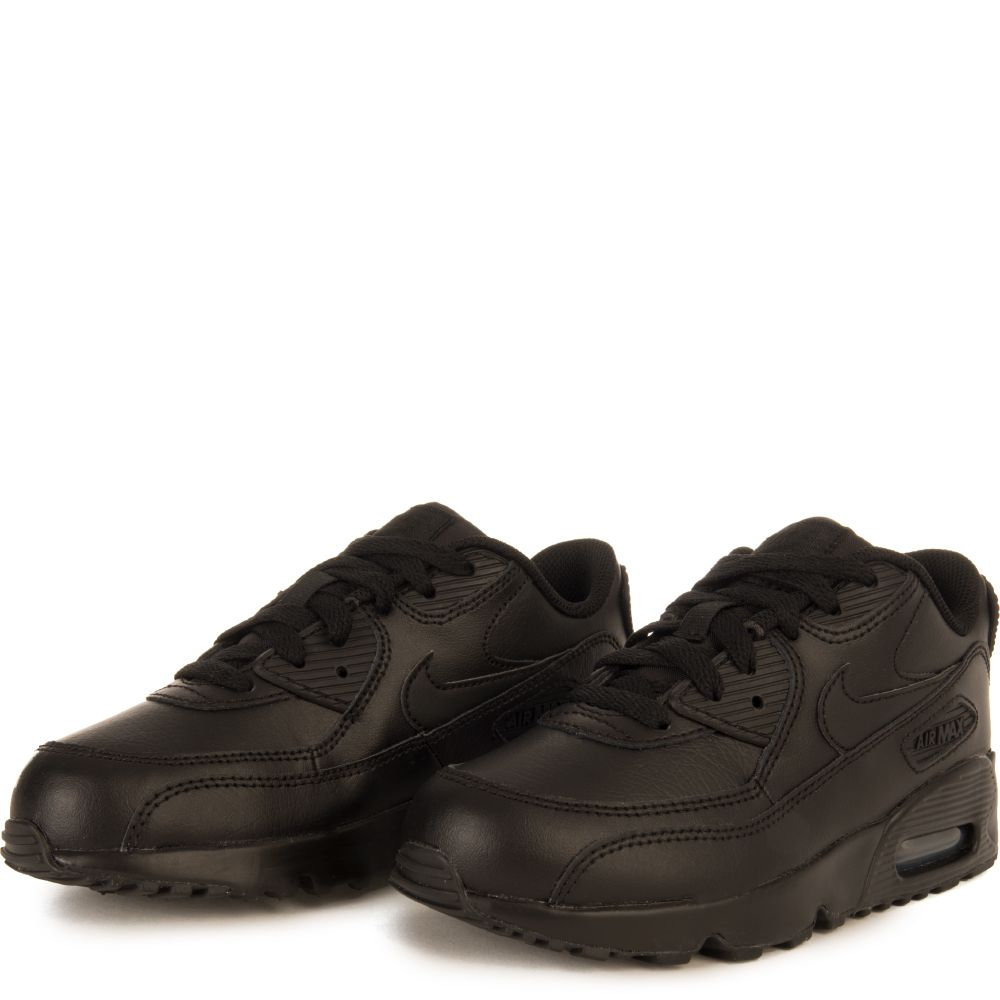 pretty nice f056c 29e65 ... NIKE AIR MAX 90 LEATHER (PS) BLACK BLACK BLACK ...