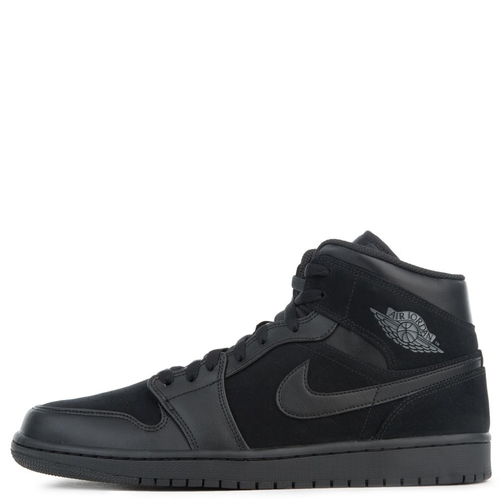 official photos c2d85 2f434 AIR JORDAN 1 MID BLACK/DARK GREY-BLACK