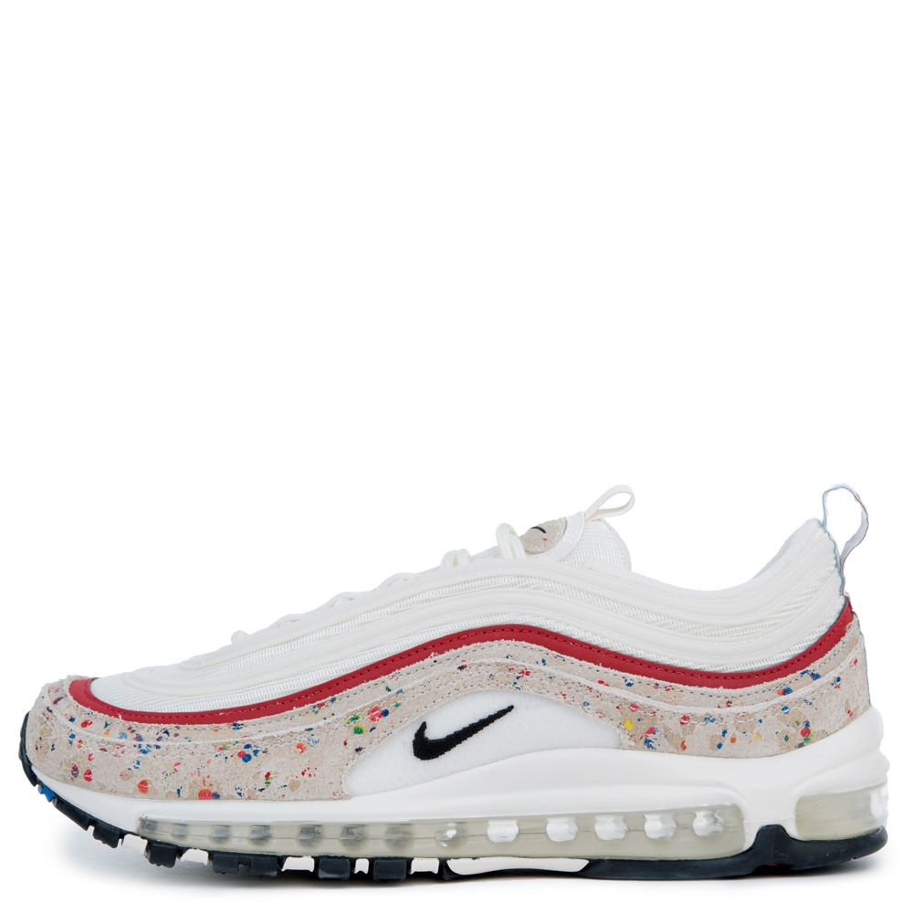 MEN'S NIKE AIR MAX 97 PREMIUM SAIL/BLACK-UNIVERSITY RED-AMARILLO
