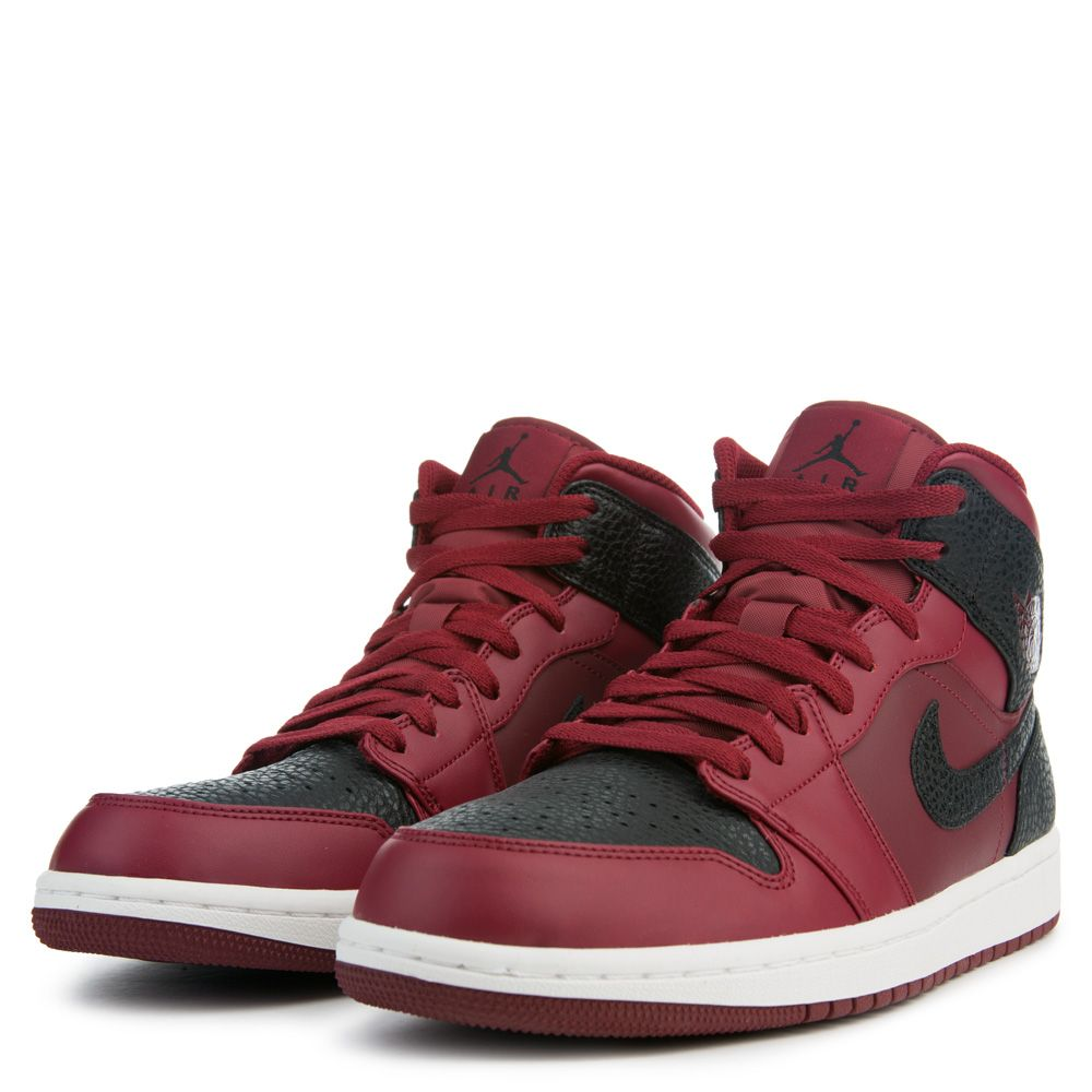 ... Air Jordan 1 Mid TEAM RED/BLACK/SUMMIT WHITE ...