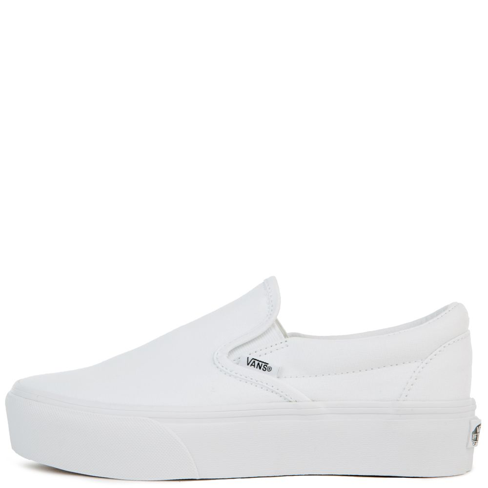 WOMEN'S UA CLASSIC SLIP-ON PLATFORMS WHITE