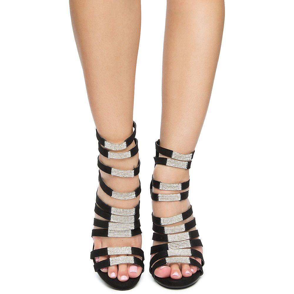 c472bbffc49b Women s Phantom Strappy High Heels BLACK
