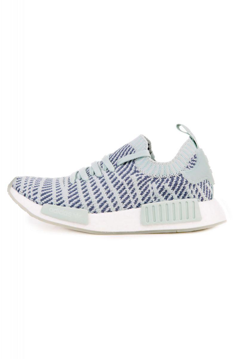 79edb89141de4 Adidas Sneaker Women s NMD R1 STLT Primeknit Ash Green Raw SteelWhite