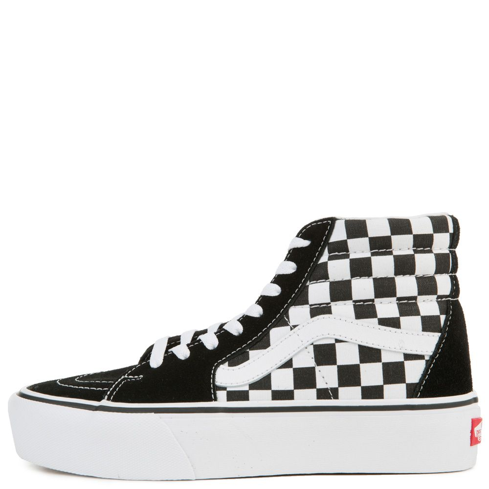 74304093d8af WOMEN S VANS UA SK8-HI PLATFORM 2.0 (CHECKERBOARD) TRUE WHITE