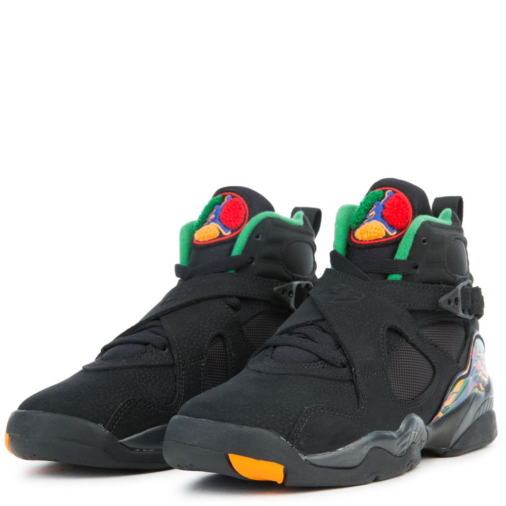reputable site 11e79 aad50 (GS) JORDAN 8 RETRO BLACK LIGHT CONCORD-ALOE VERDE