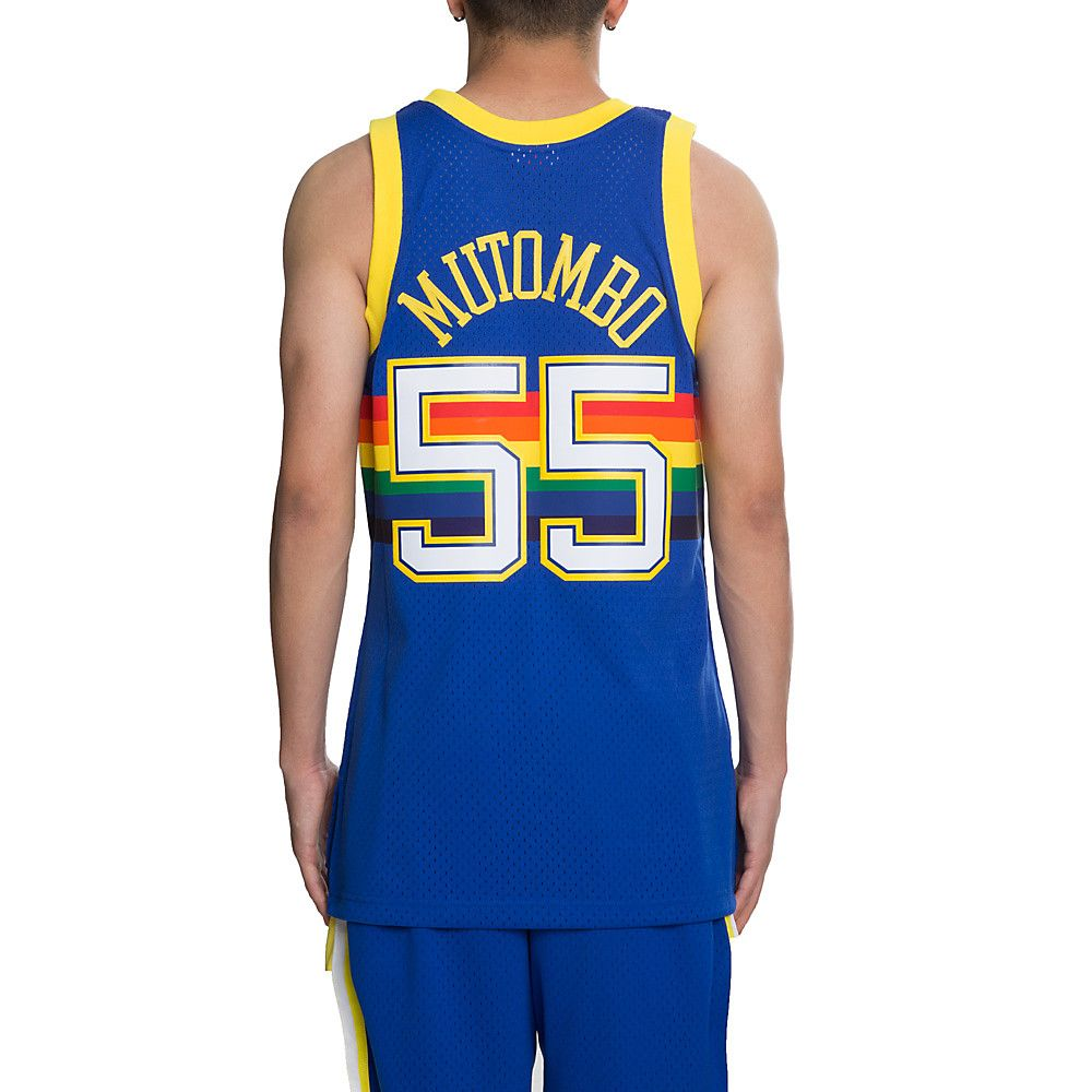 cheap for discount f7c59 117e3 Men's Nuggets Dikembe Mutombo Jersey Royal