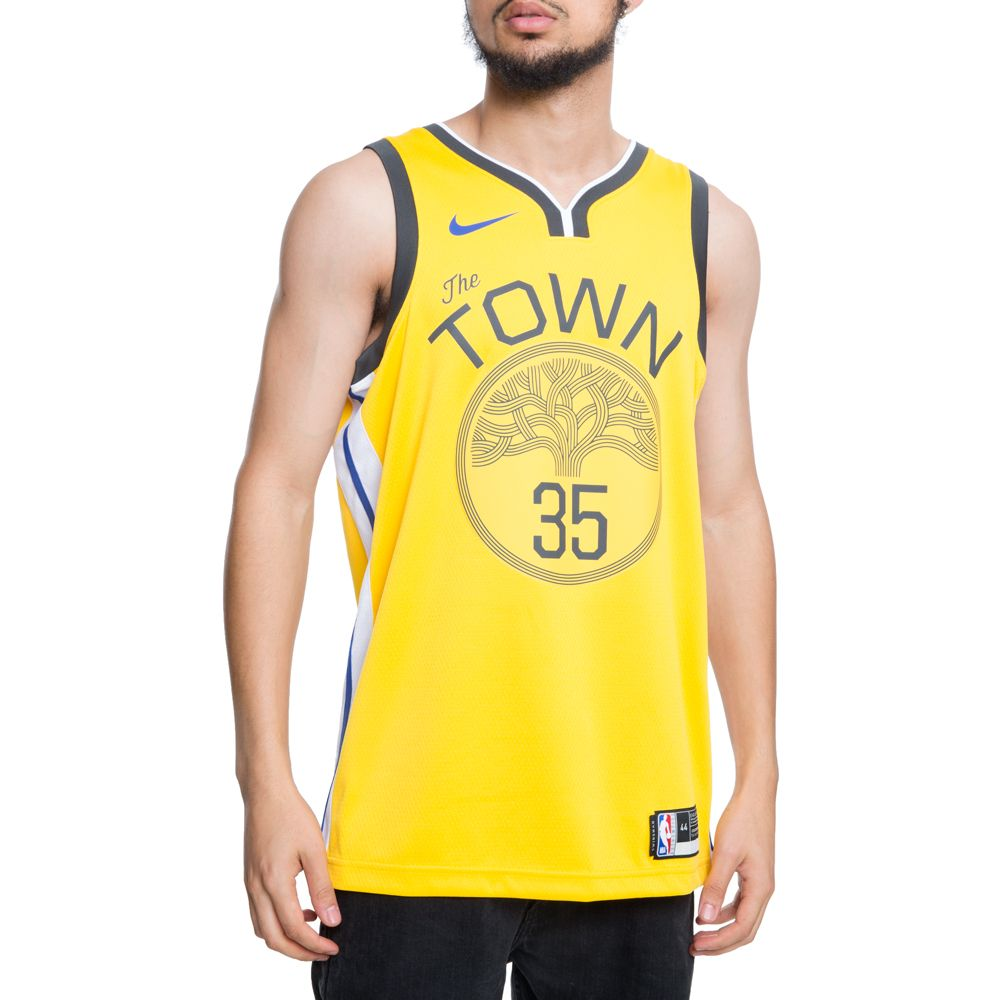 0340e3de9 GOLDEN STATE WARRIORS NBA CONNECTED KEVIN DUARTE EARNED CITY EDITION  SWINGMAN JERSEY AMARILLO WHITE  ...