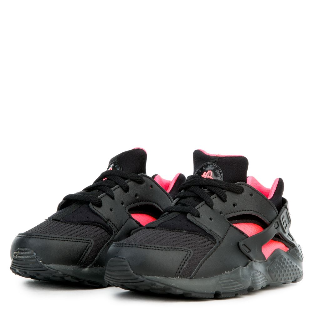 d96c36b1ef (PS) HUARACHE RUN BLACK/ANTHRACITE-SOLAR RED