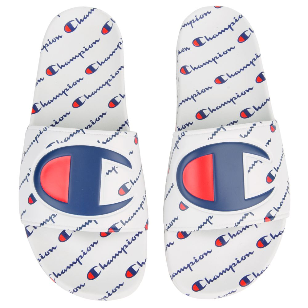 Champion ipo slides white mens