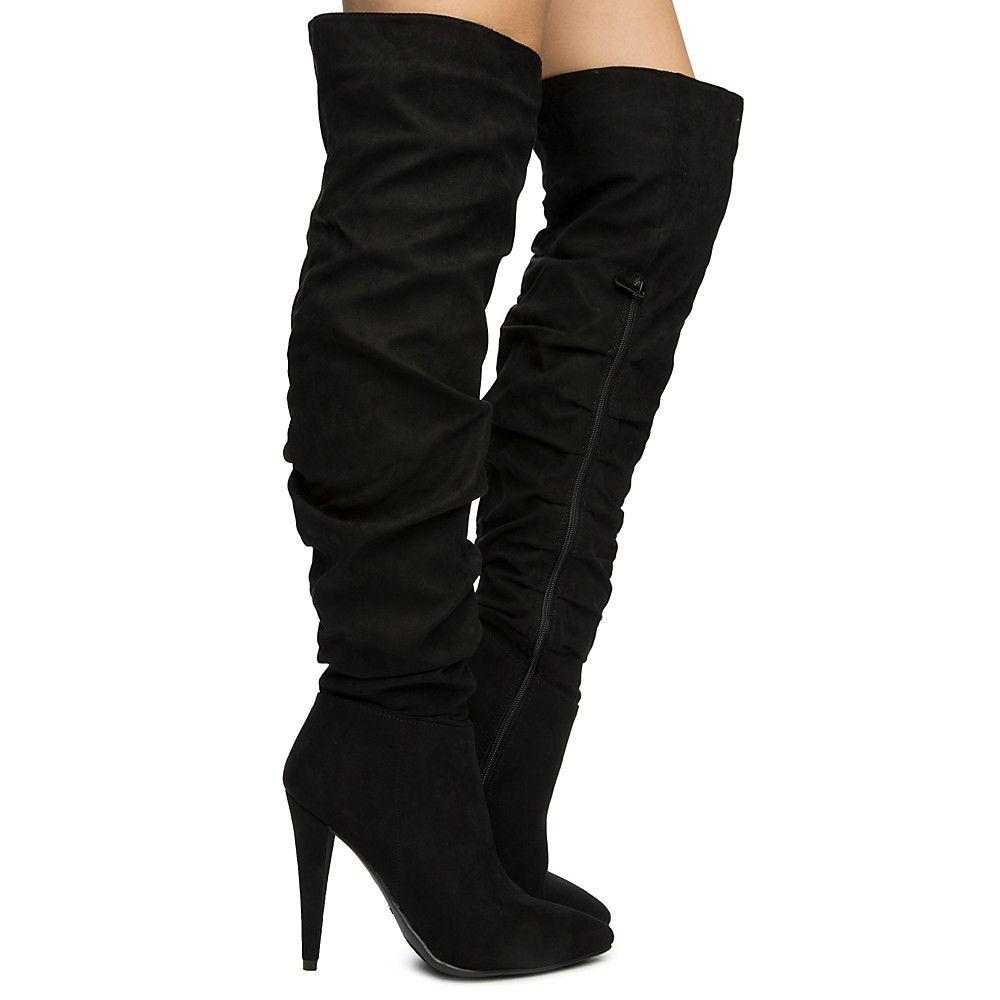 753787af624 Women s Magnolia-01m Knee High Boots BLACK