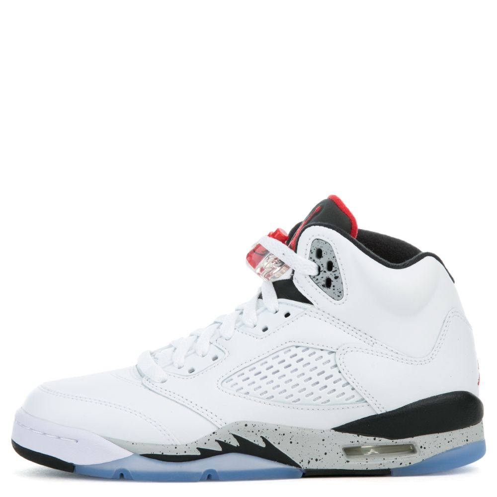 bcf7035284a Air Jordan 5 Retro WHITE UNIVERSITY RED-BLACK-MATTE SILVER