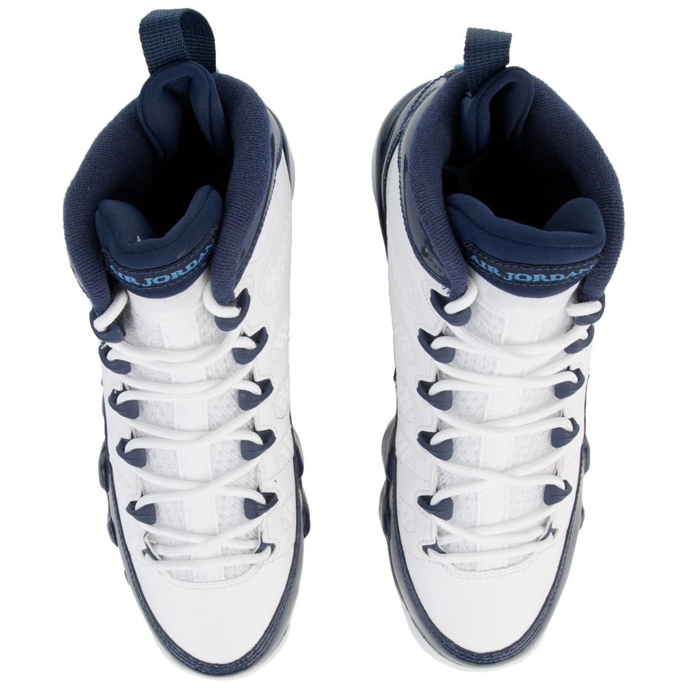 promo code 3be60 37361 (GS) AIR JORDAN 9 RETRO WHITE UNIVERSITY BLUE-MIDNIGHT NAVY`