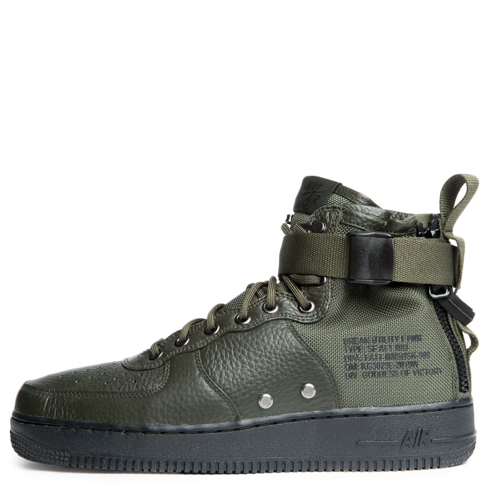 Sf Air Force 1 Mid Shoe SEQUOIA/SEQUOIA-BLACK