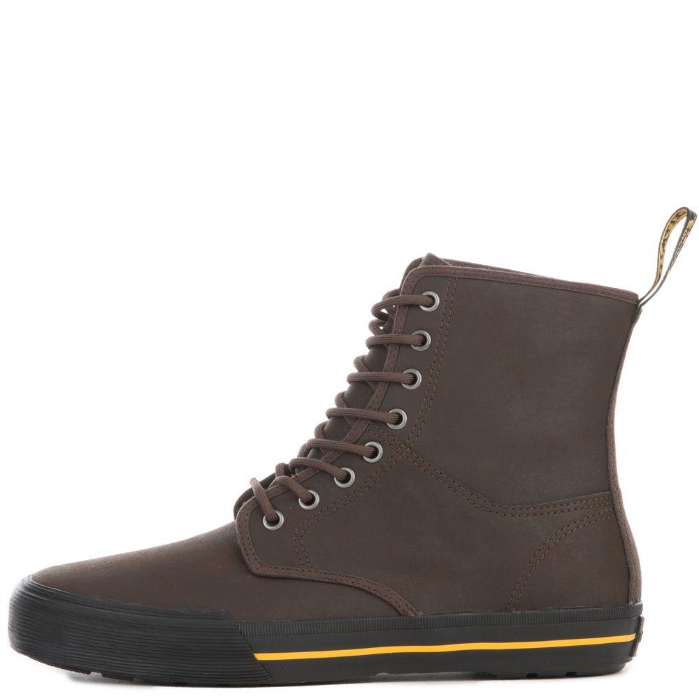 Men's Winston Dark Brown Greasy Lamper Leather Boots DARK BROWN