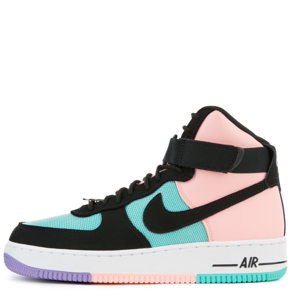 new product 6e626 89984 AIR FORCE 1 HIGH  07 LV8 HYPER JADE BLACK-BLEACHED CORAL