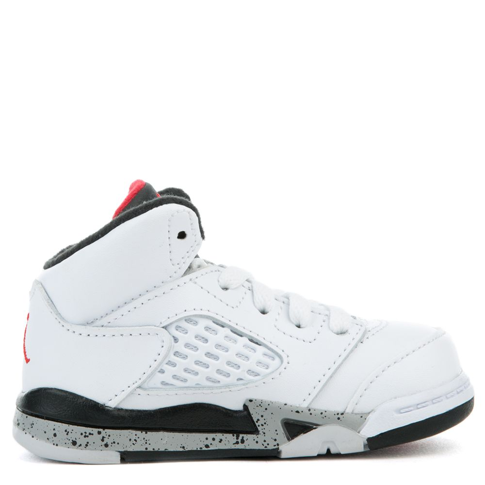 5f4697914194 Jordan 5 Retro WHITE UNIVERSITY RED-BLACK-MATTE SILVER