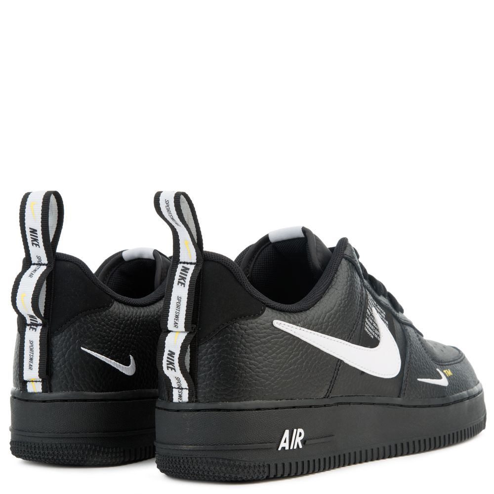 757cf968a63 AIR FORCE 1  07 LV8 UTILITY BLACK WHITE-BLACK-TOUR YELLOW