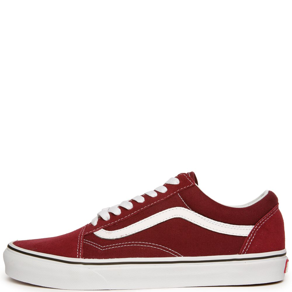 WOMEN S VANS OLD SKOOL BURGUNDY TRUE WHITE c58360256