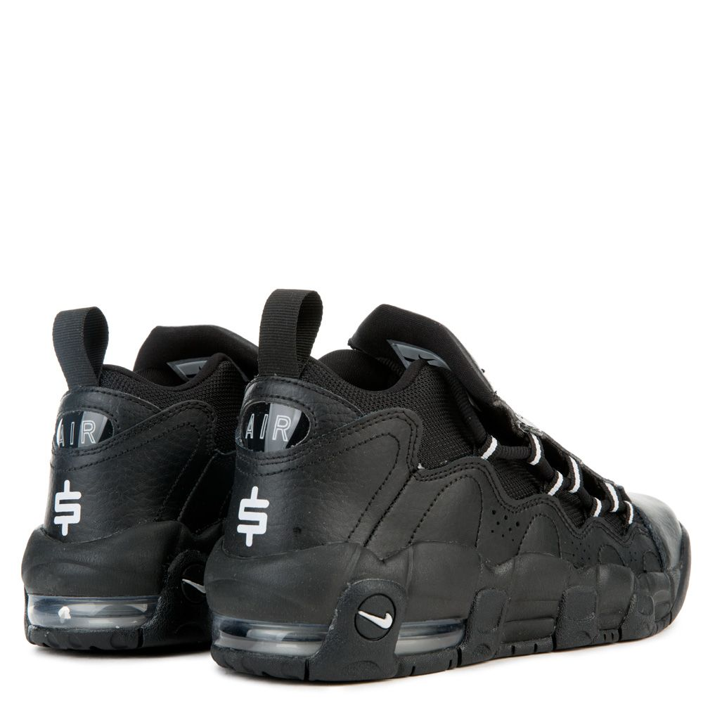 0a5e6c9df22f GRADE SCHOOL NIKE AIR MORE MONEY BLACK METALLIC SILVER PURE PLATINUM