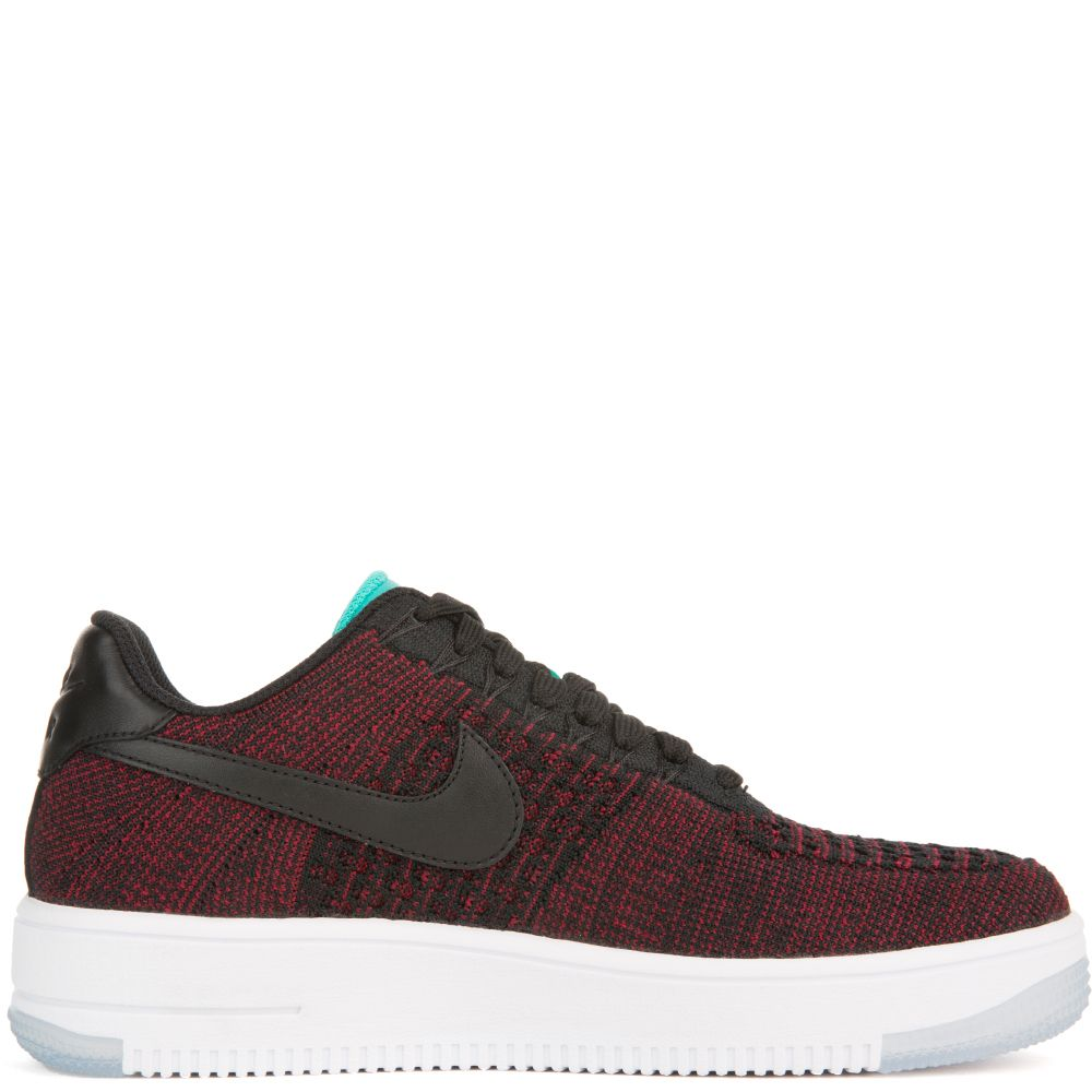 8dd87046e041 Air Force 1 Flyknit Low Black Red Turquoise