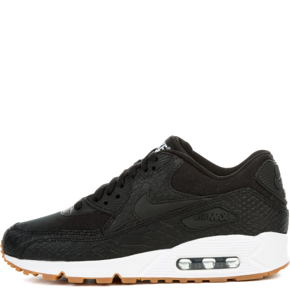96c383a5df6dd WMNS AIR MAX 90 PRM BLACK/BLACK-GUM YELLOW-WHITE