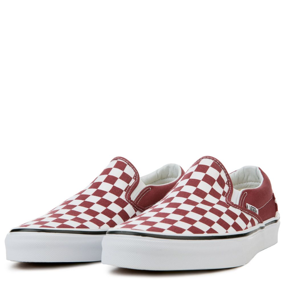 25992afb7c UNISEX VANS CLASSIC SLIP-ON CHECKERBOARD APPLE BUTTER TRUE WHITE