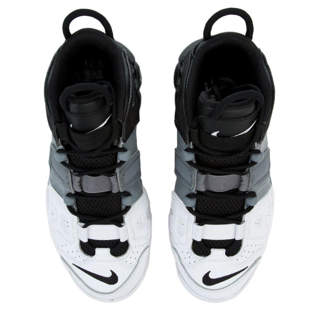 buy online f4b14 b78df NIKE AIR MORE UPTEMPO (GS) BLACK BLACK-COOL GREY-WHITE