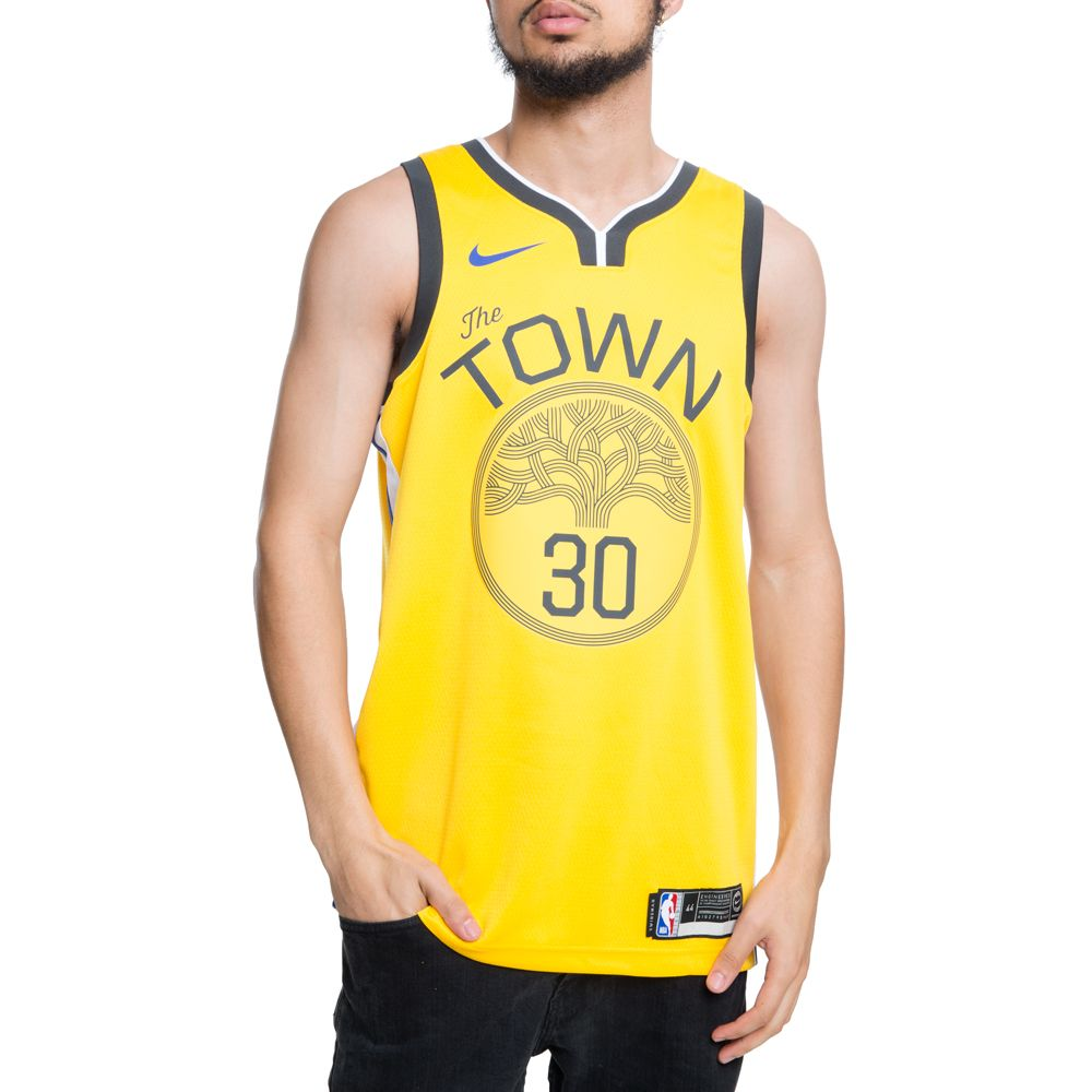 GOLDEN STATE WARRIORS NBA CONNECTED STEPHEN CURRY EARNED CITY EDITION SWINGMAN  JERSEY AMARILLO WHITE  ... a0c08445e