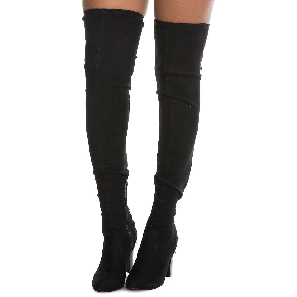 7042c38c252 Women s Addison-1 thigh High Lace-Up Boot Black