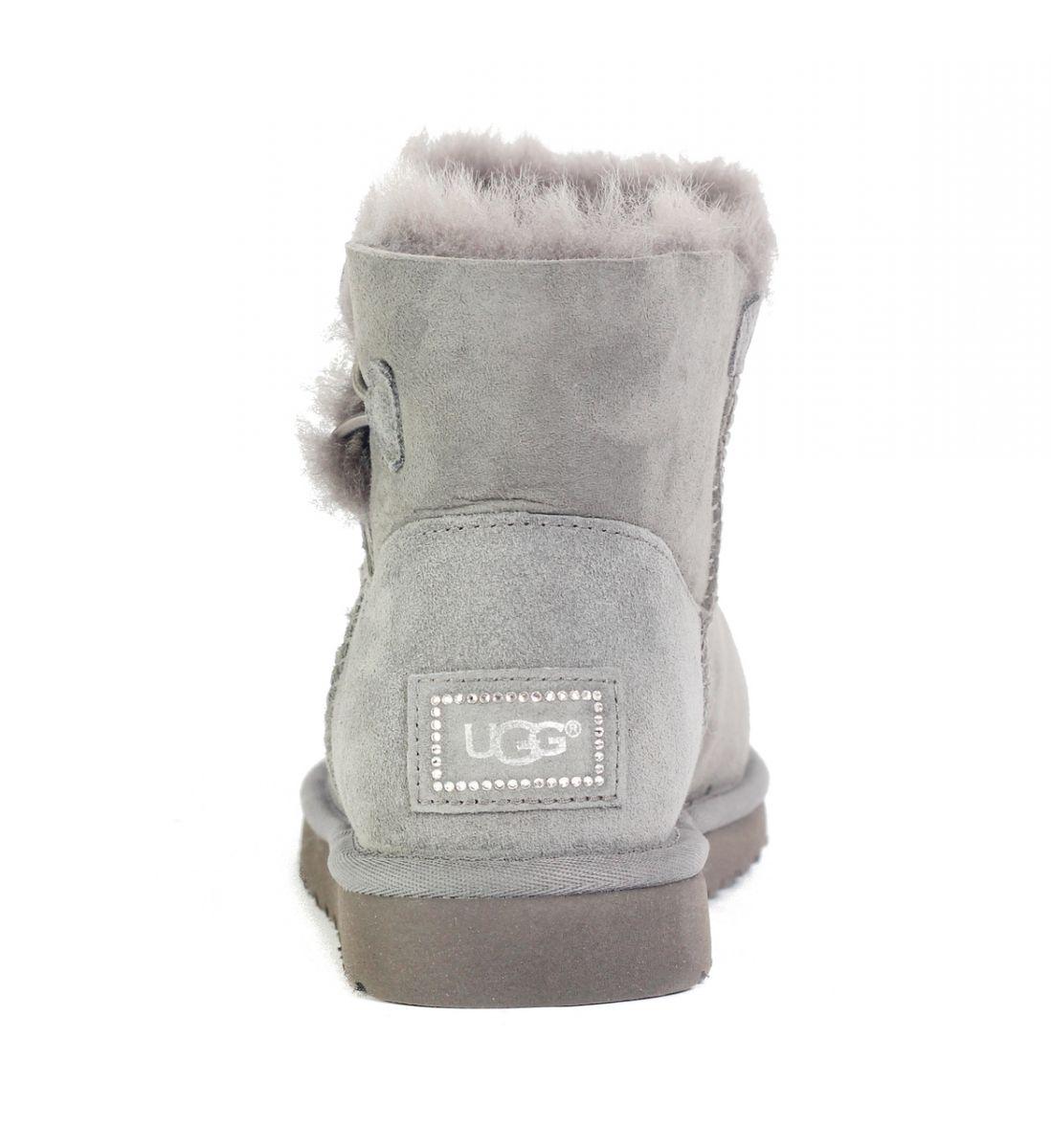 7e3fc53b426 UGG Australia for Women: Mini Bailey Button Bling Grey Boots Grey
