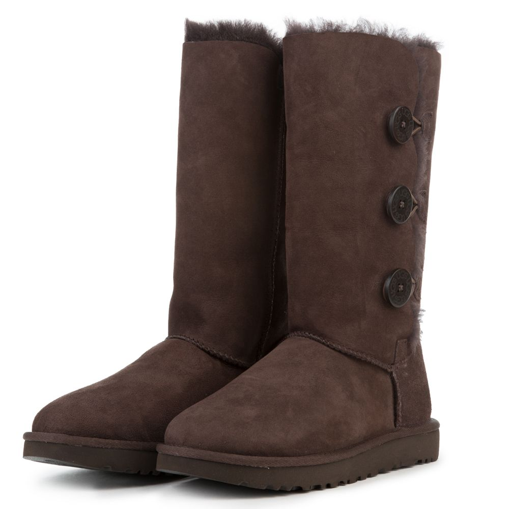 50bbc916267 Women's Bailey Button Triplet II Chocolate Boots CHOCOLATE
