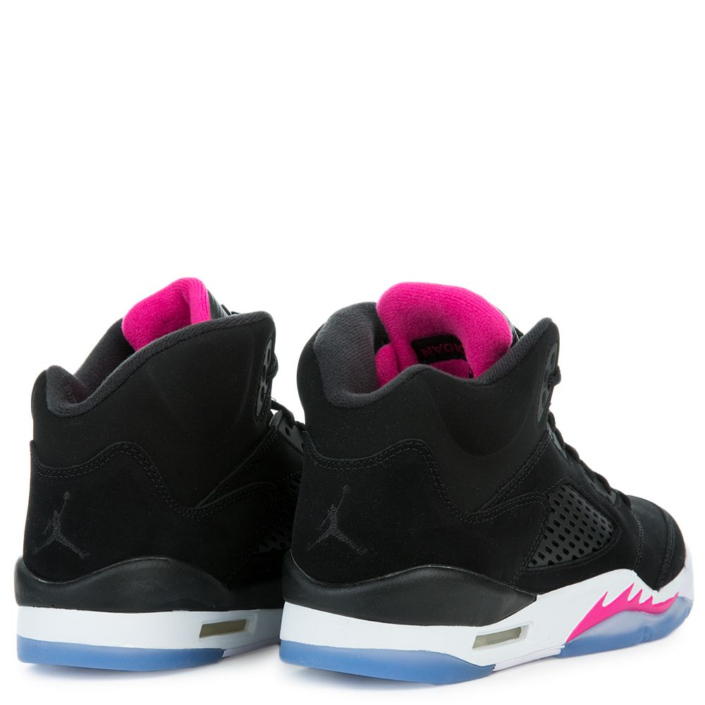 4c9cae59cbd9 Air Jordan 5 Retro BLACK BLACK-DEADLY PINK-WHITE