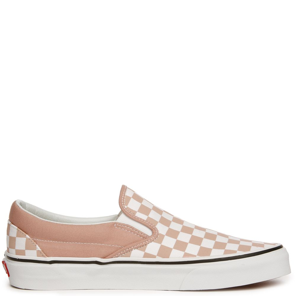 492275690bb WOMEN S VANS CLASSIC SLIP-ON (CHECKERBOARD) MAHOGANY ROSE TRUE WHITE