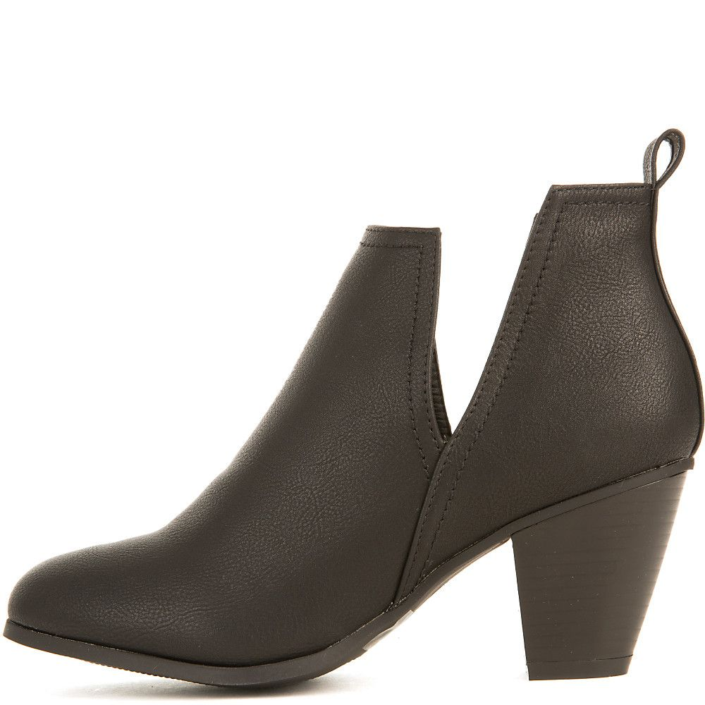 61b28d15bfa30 Women saddle low heel ankle bootie black jpg 1000x1000 Low heel ankle boots  for women