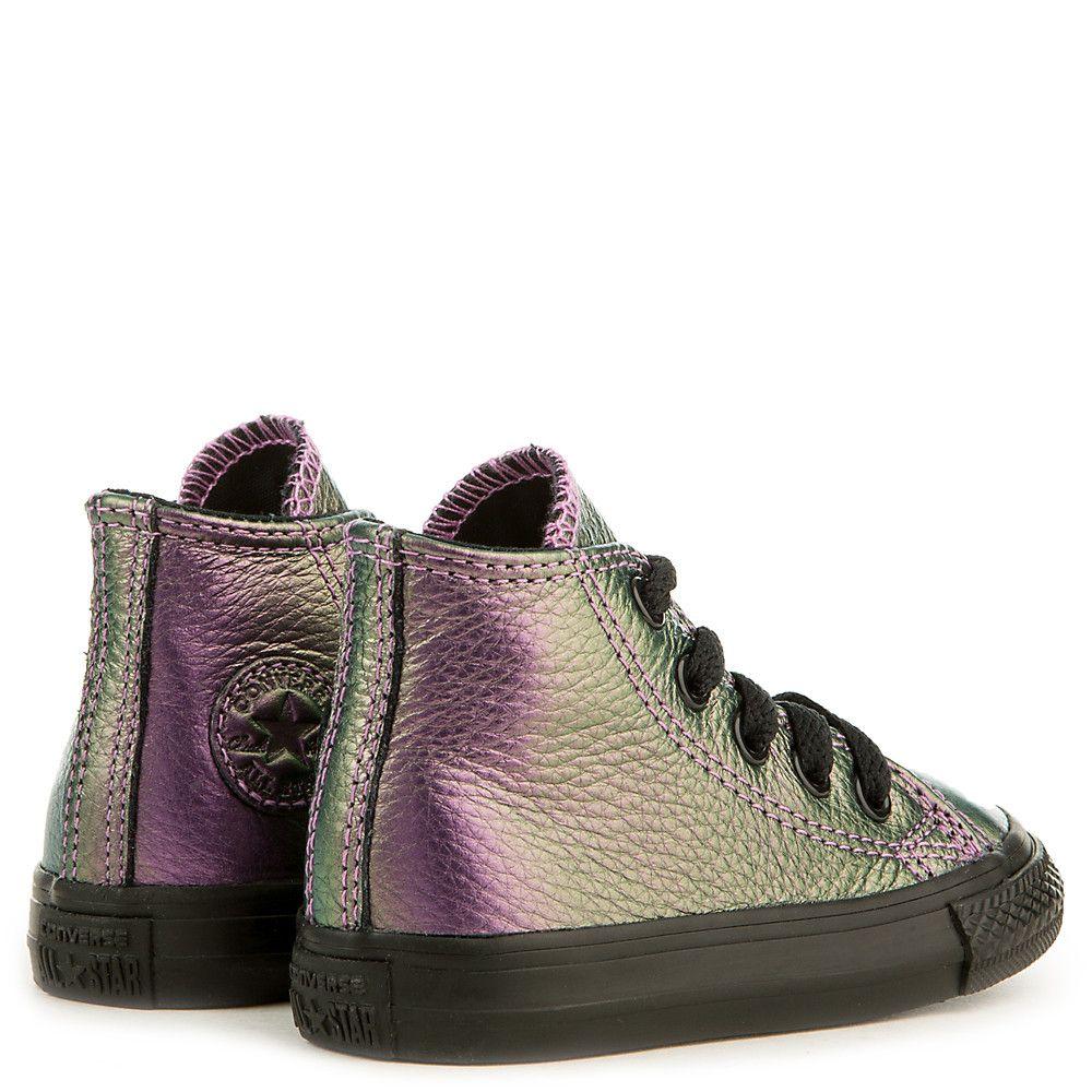 f565f08dcda Toddler Chuck Taylor All Star Iridescent Sneaker black orangeray bright  violet
