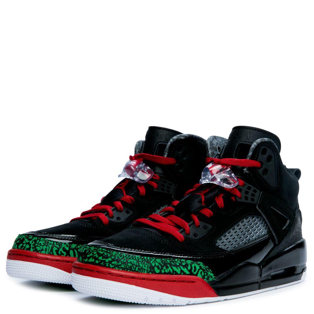 finest selection 23fa1 a7d58 Jordan Spizike BLACK VARSITY RED CLASSIC GREEN WHITE