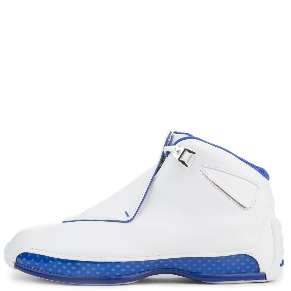 aa94c27500a884 MEN S AIR JORDAN 18 RETRO WHITE BLUE