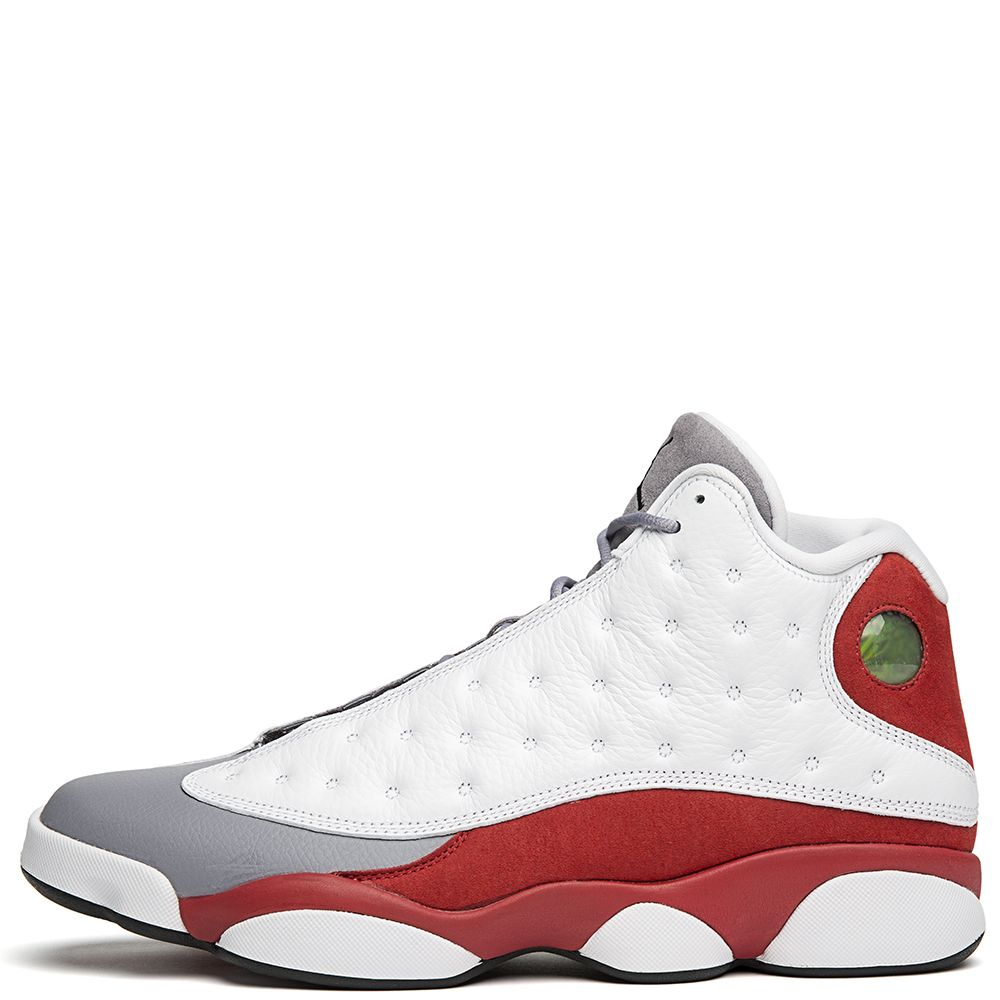 1a0381b0037076 MEN S JORDAN 13 RETRO WHITE BLACK-TRUE RED-CMNT GREY