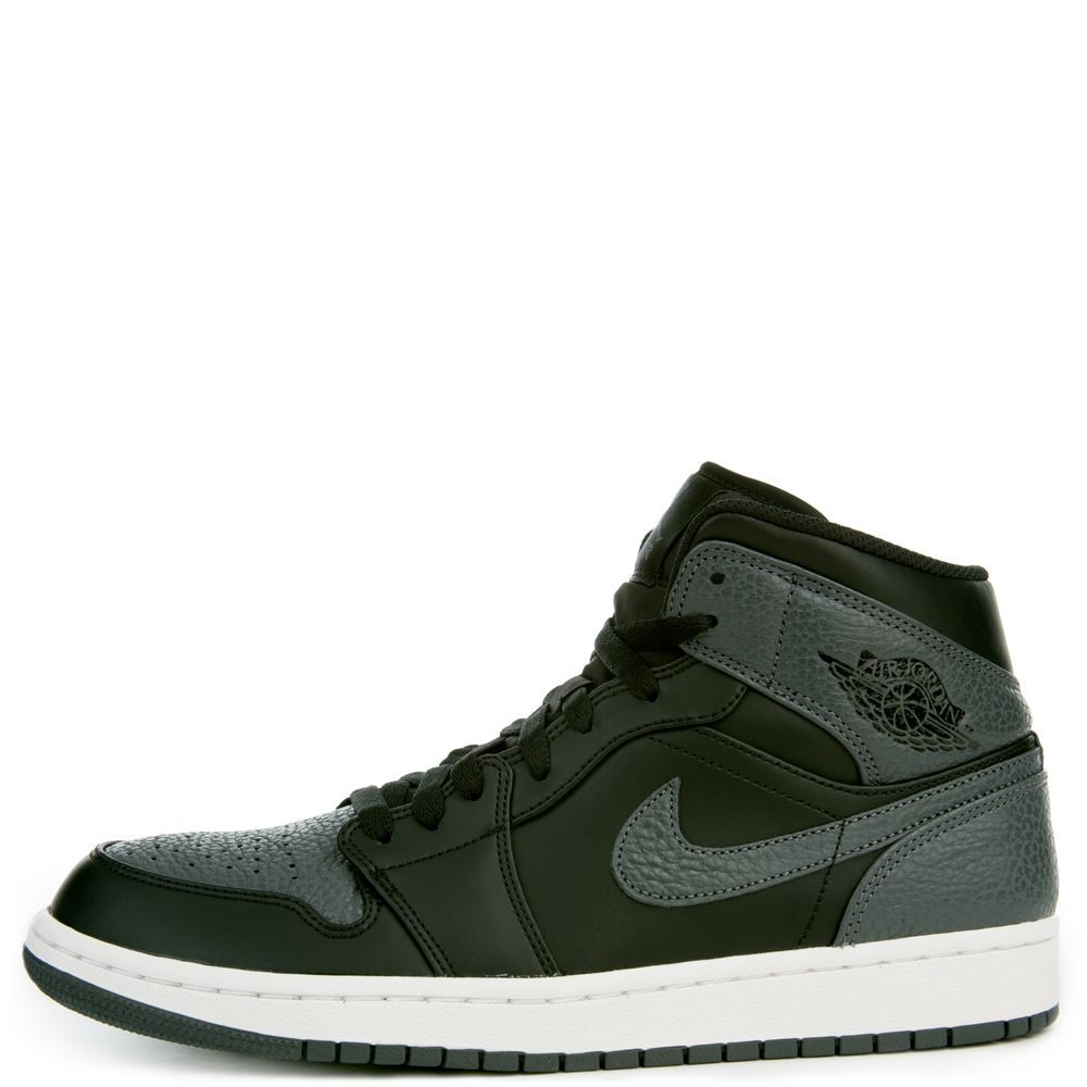 025b37882a7c Air Jordan 1 Mid BLACK DARK GREY SUMMIT WHITE